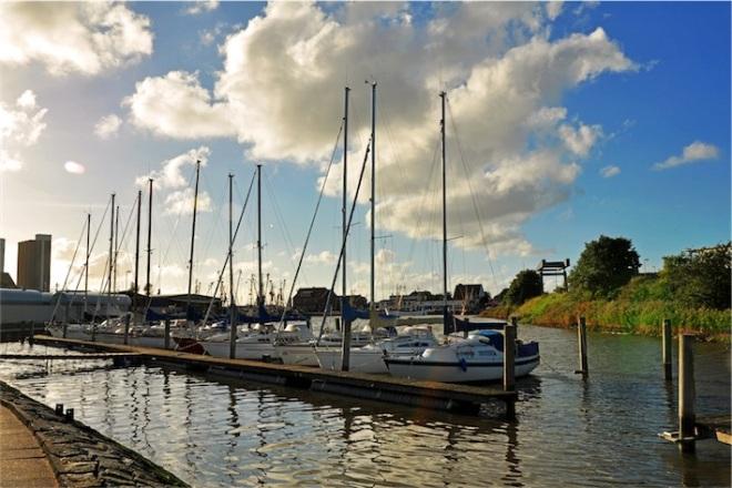 Segelboote, Husum Rödemis-Hallig, Segelhafen